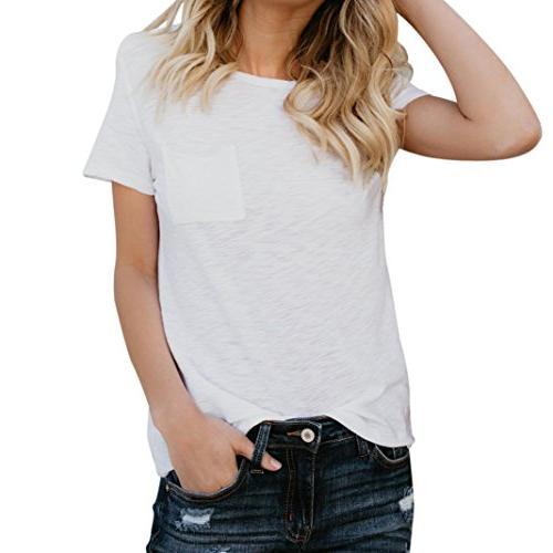 causel t shirt tops teens simple