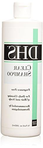 DHS Shampoo Clear 16 OZ 3-Pack