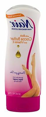 Nair Cocoa Butter with Vitamin E Lotion Hair Remover 9 oz