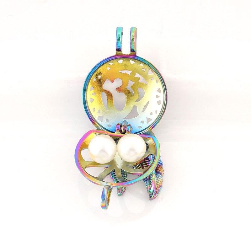 Colorful cage smiley <font><b>five</b></font>-pointed <font><b>star</b></font> essential oil <font><b>fragrance</b></font> necklace