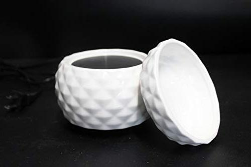 Electric 2-in-1 Burner - Ceramic Melt Wax Melter Air Freshener Odor - Textured