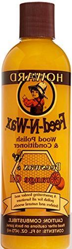 Howard FW0016 Feed-N-Wax Wood Polish and Conditioner, Beeswa