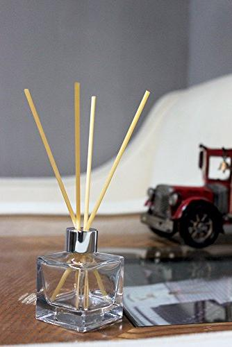 """Feel Bottles Refillable Bottles Set of 4-2.5"""" High, 1.7 Square Use for Replacement Reed Diffuser"""