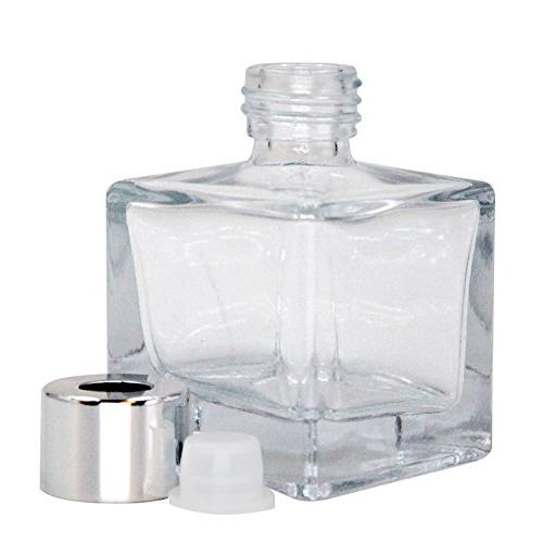 "Feel Glass Bottles Refillable Diffuser Bottles of 4-2.5"" 1.7 Square Shape, Use Diy Reed"