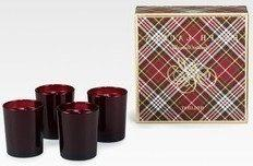 Ralph Lauren Holiday Dinner Votive Candles Set of 4 Soy with