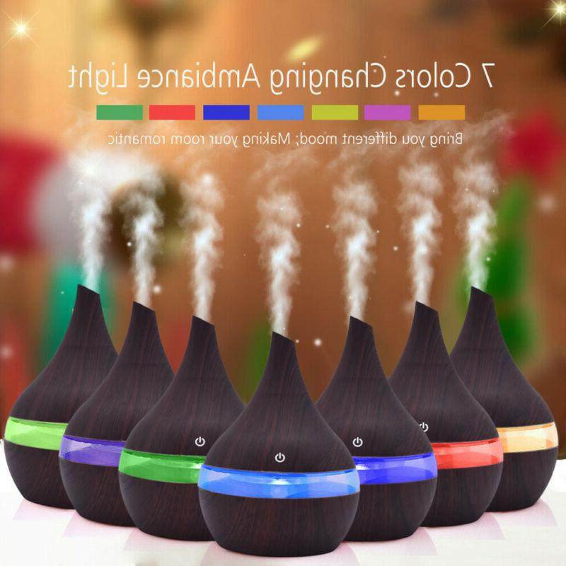 led ultrasonic aroma essential diffuser air humidifier