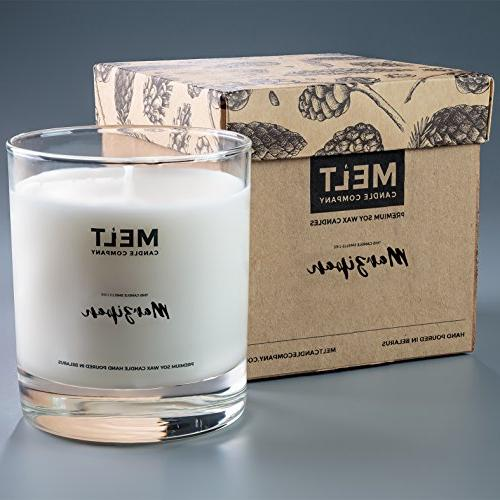 marzipan scented soy wax glass
