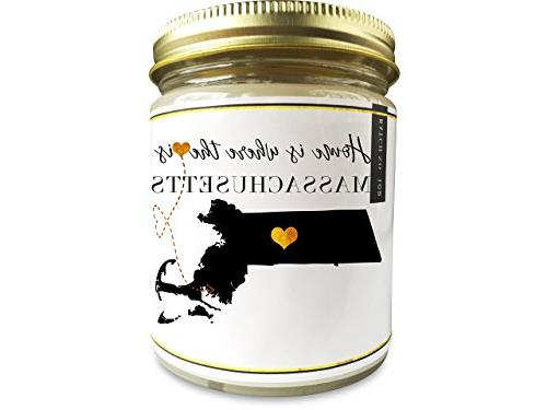 massachusetts homesick scented soy candle