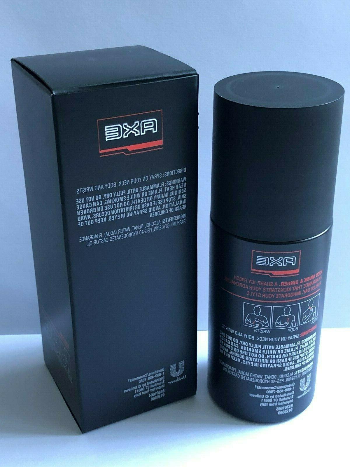 AXE Men's Iced Musk & 3.38oz/100mL. Fragrance .New In Box