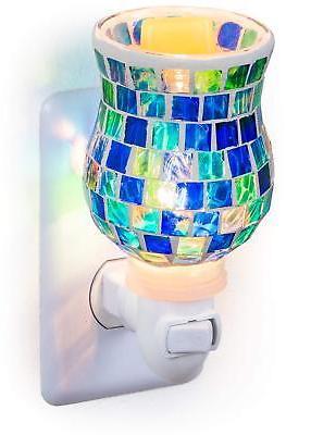 mosaic glass plug wax melt warmers