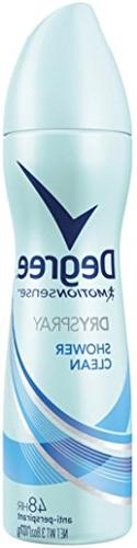 Degree Women MotionSense Dry Spray Antiperspirant, Shower Cl