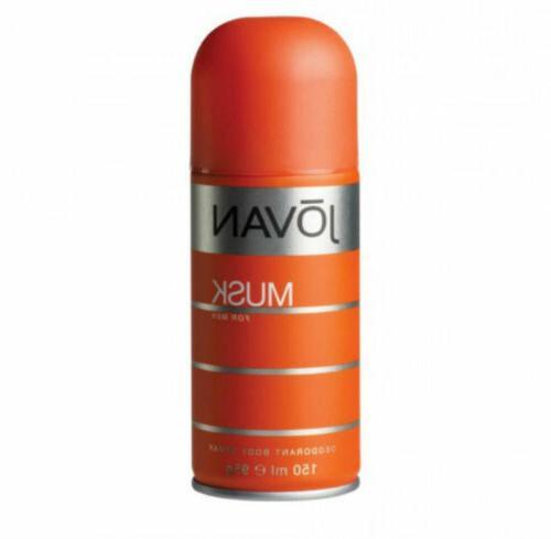 Jovan Musk Deodorant Body Spray for Men 5.0 oz / 150ml