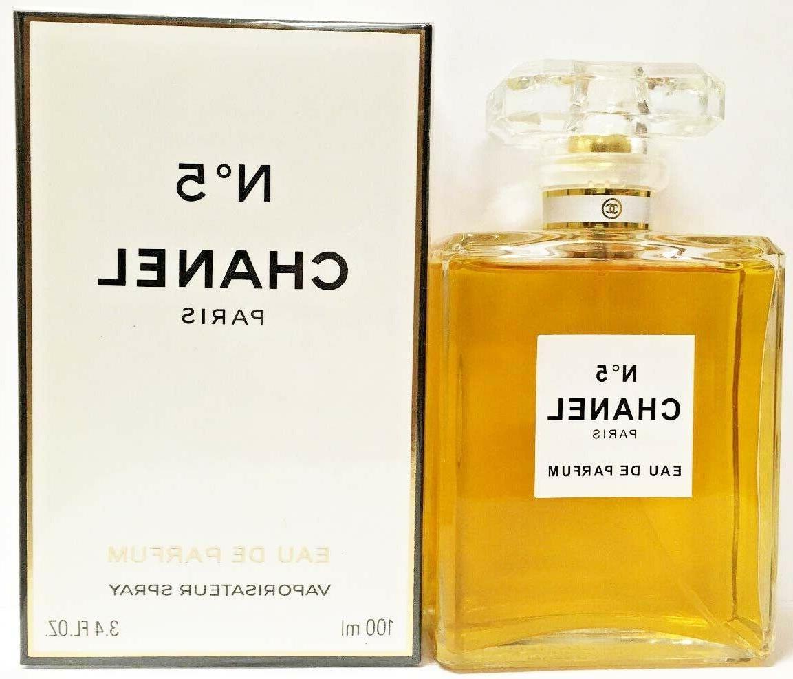 Chanel No.5 3.4 100ml Eau Parfum Spray *New In Box*