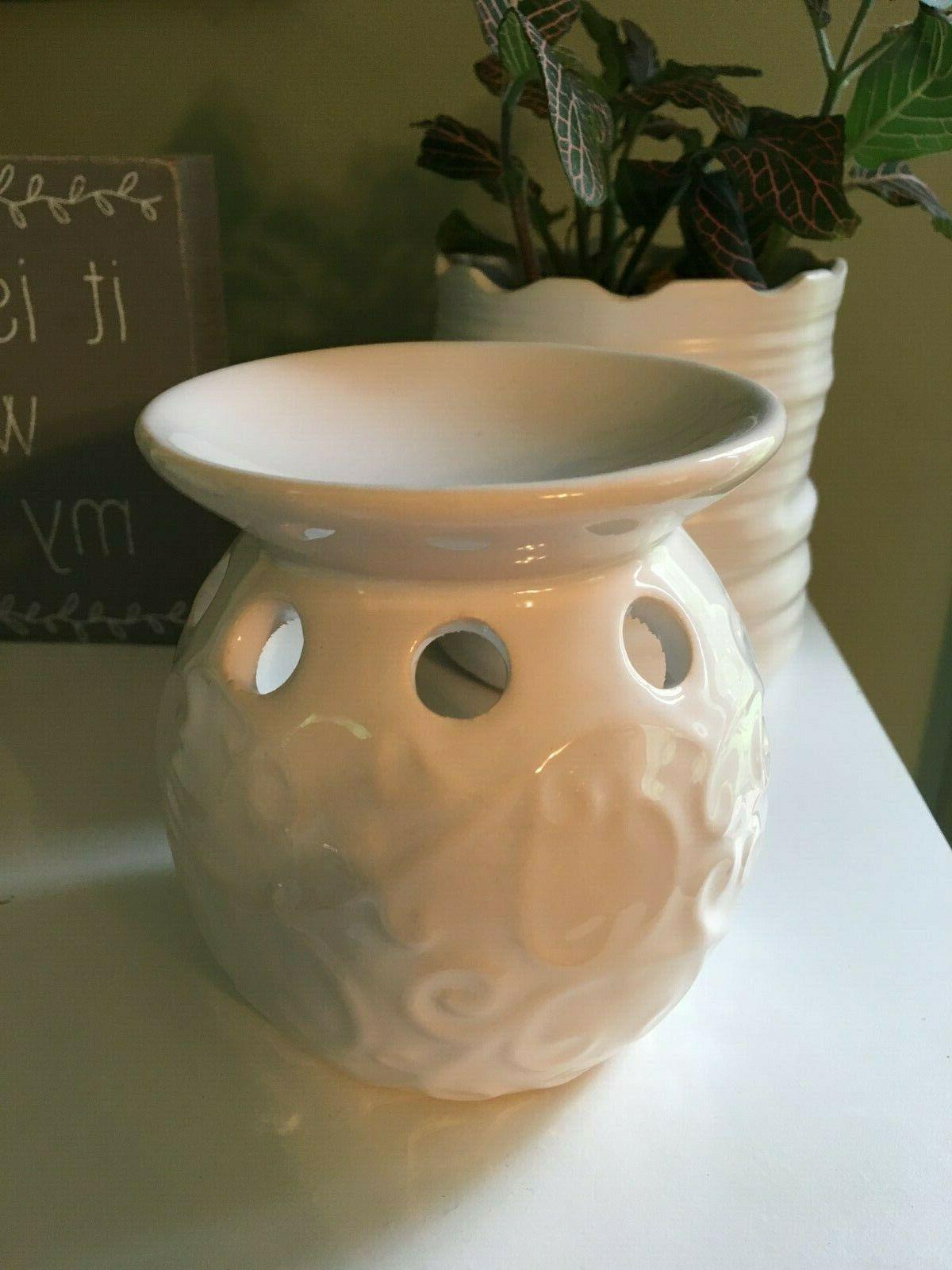 nwt ceramic off white burner warmer fragrance