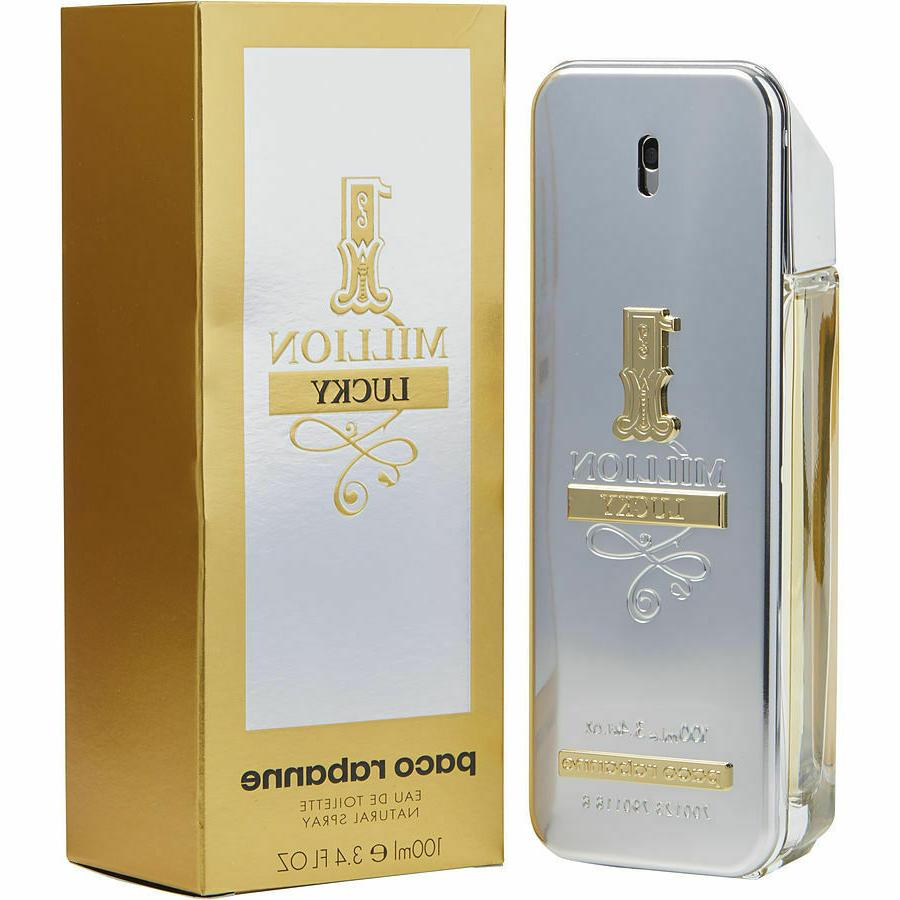 Paco Rabanne One 1 Million Lucky For Men Cologne 3.4 oz  EDT