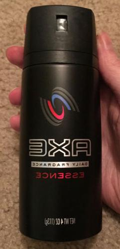 Axe Body Spry Essence Size 4z Axe Essence Body Spray 4oz