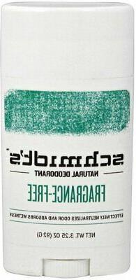 Schmidt's Deodorant Fragrance-Free Stick 3.25 oz