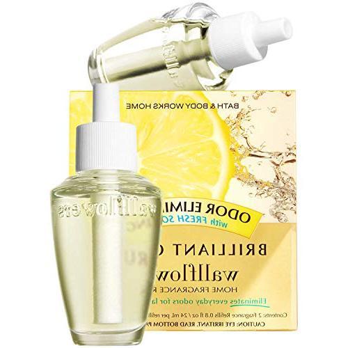 wallflowers 2 pack refills brilliant citrus fragrance bulbs