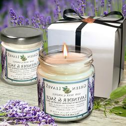 Lavender And Sage, Handmade Soy Candles that smell AMAZING i