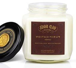 Purification - Lavender Scented Vegan Jar Soy Candle - 9 oz