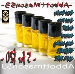 MEN PERFUME COLOGNE BODY OIL, DESIGNER TYPE Oils , PURE UnCU