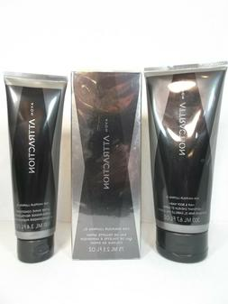 Men's Avon Attraction Fragrance Toilette Spray Body Wash Aft