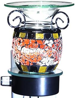 Mosaic Glass Plug-In Aroma Lamp with Halogen Bulb and Dimmer