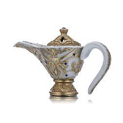 Asgharali Perfumes MUBKHAR - ALADDIN WHITE Oud Incense Burne