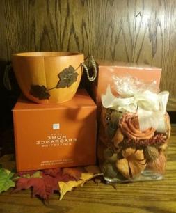 NIB Avon Home Fragrance Collection Spiced Pumpkin SET BOWL &