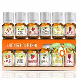 Ohhh Fruit Good Essential Fragrance Oil Set Vanilla, Coconut