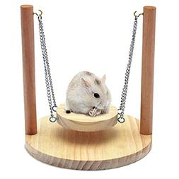 sweetyhomes Pet Swing,Pet Hamster Small Animal Wood Swing Lo