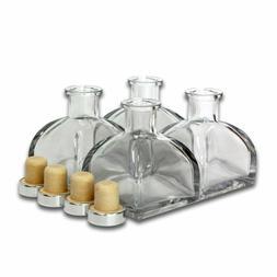 """Feel Fragrance ™'S Glass Diffuser Bottles Set Of 4 - 3.5"""""""