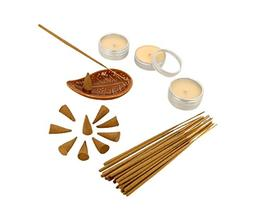 ShalinIndia Sandalwood Fragrance Gift Set with 25 Incense Co