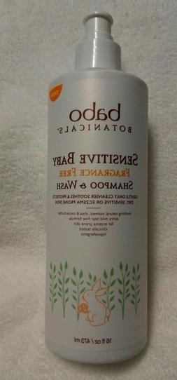 Babo Botanicals Sensitive Baby Fragrance Free Shampoo and Wa