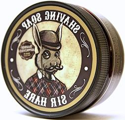 Premium Shaving Soap for Men By Sir Hare - Barbershop Fragra