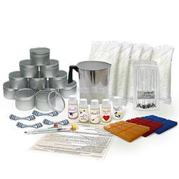 Burning Wick Candles Soy Wax Large Candle Making Kit with 5