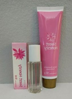 Avon SWEET HONESTY Fragrance Roll-on 0.33oz & Softening Crea