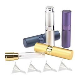 Madholly 4 Pieces 8ml Twist-Up Perfume Spray Bottles, Portab