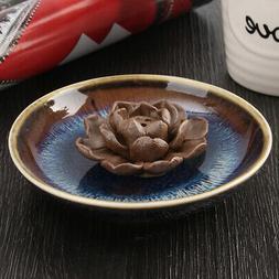 us ceramic incense holder burner lotus plate