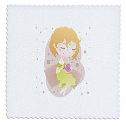 3dRose Uta Naumann Watercolor Illustration - Girl Holding a