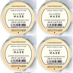 Bath and Body Works 4 Pack Vanilla Bean Scentportable Fragra