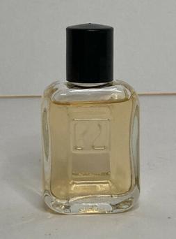 Vintage NOS Avon Men's Black Suede Avon Cologne .5 fl oz Ful