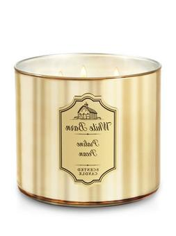 Bath and Body Works White Barn 3 Wick Scented Candle Praline
