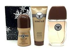 Wild Country by Avon 3 pc classic gift set 3 oz cologne + af