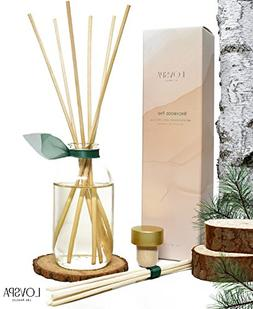 LOVSPA Birchwood Pine Reed Diffuser Set with Wood Slice Coas