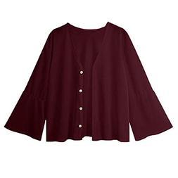 Spbamboo Womens Cardigan Coat Long Sleeve Open Front Solid B