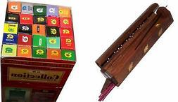 Wooden incense burner with 25 fragrances x 8 sticks set - by