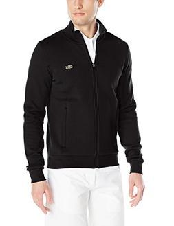 Lacoste Men's Sport Full Zip Brushed Fleece Sweatshirt, Blac